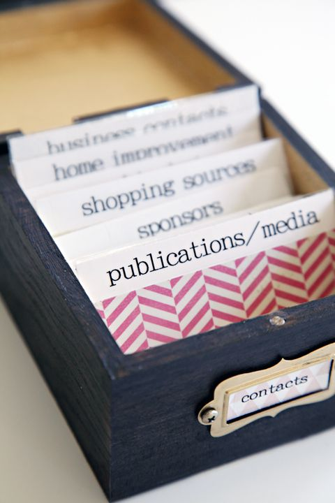 Diy Business Card Organization With Images Business Card