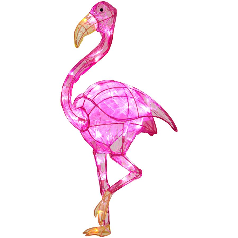 Shop lighted outdoor christmas decoration with white lights at lowes gallery of 17 best images about pink flamingo on flamingo lighted pink flamingo lawn ornaments aloadofball Image collections