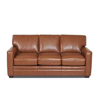 Custom Upholstery Carleton Leather Sofa Leather Sofa