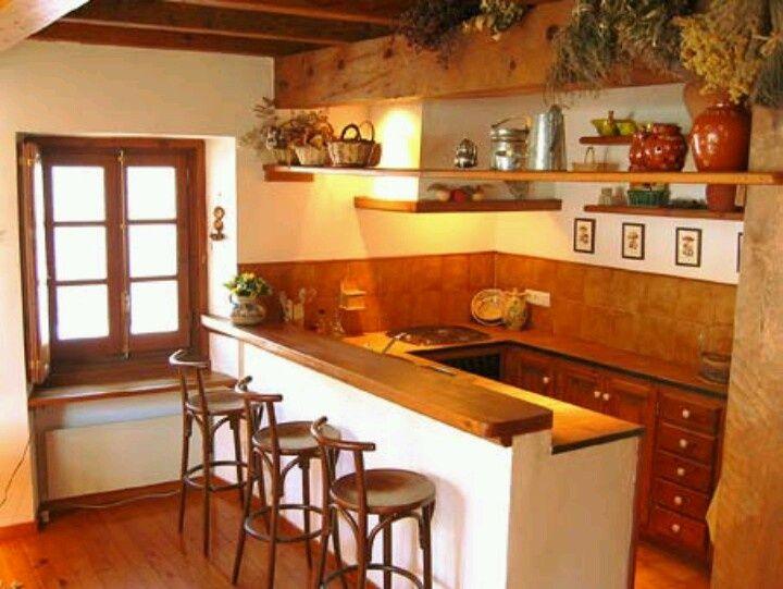 Resultado de imagen para cocina con barra rustica cocinas for Barras de cocina modernas