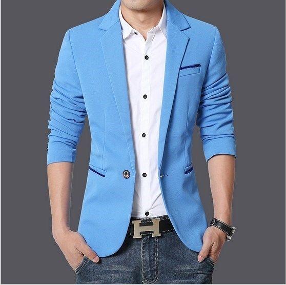 8a6aa5840ba M-4XL 5XL 6XL Plus Size Wedding Dress Blazer Men Casual Slim Fit Suit Jacket  Black Blue Khaki Jaqueta Terno Masculino