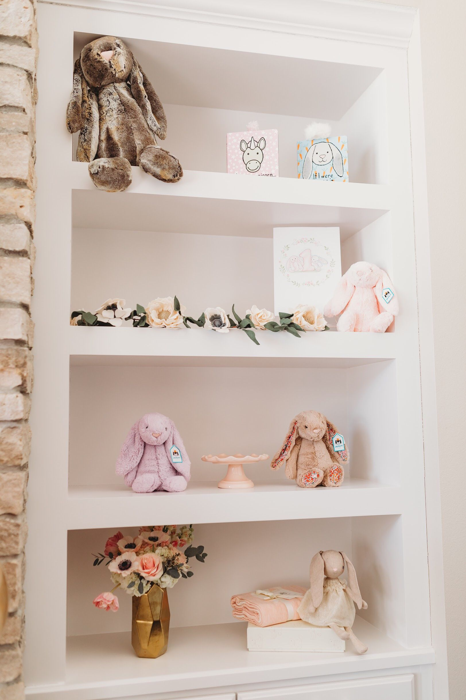 Jellycat First Birthday Party Project Nursery In 2020 Baby Room Shelves Modern Baby Room Small Baby Room