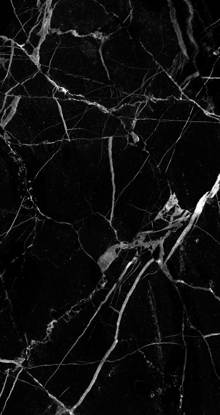 Black Marble Wallpaper Iphone Wallpaper Ponsel Latar Belakang