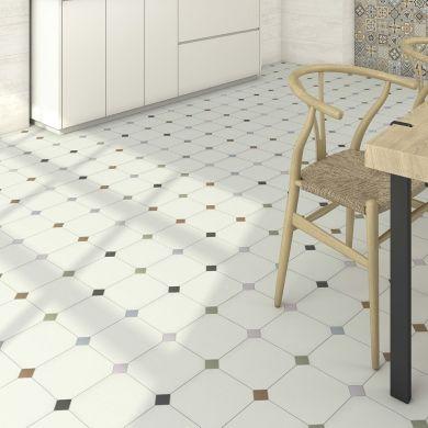 Saint Maclou, Comedia octogonal 20x20 cm, 31,99 € | Carrelage octogonal, Plancher et Carreaux de sol