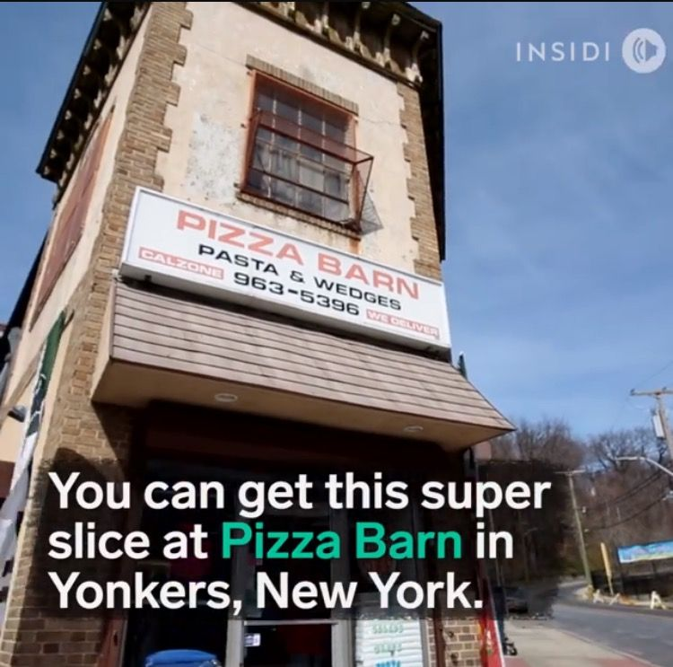 Pizza Barn In Yonkers New York A Slice Of Pizza Is 2 Feet Long Pizzaheaven Pizzalovers Sliceofpizza Famous Places Travel Eating Places To Eat
