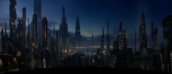 Star Wars Panoramic View Futuristic City Star Wars Wallpaper Sci Fi City