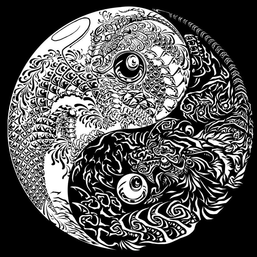 Yin Yang Long By Arnatornwolf On Deviantart Animal Coloring Pages Celtic Coloring Coloring Pages