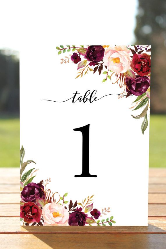 Swell 1 10 Printable Table Numbers Boho Floral Rustic Table Download Free Architecture Designs Rallybritishbridgeorg