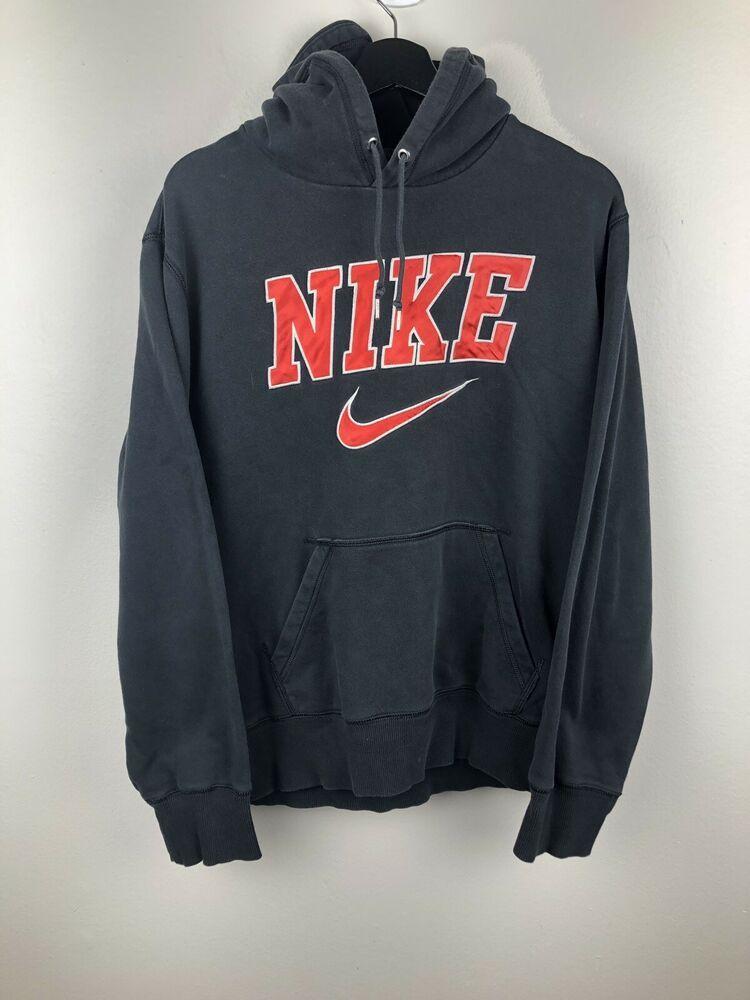 Nike Men S Sweatshirt Warm Hoodie Black Size L Ebay