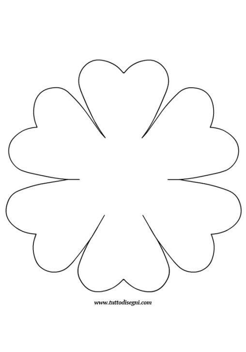 Sagoma fiore wzory disegno fiori fiori di carta for Fiori grandi da colorare