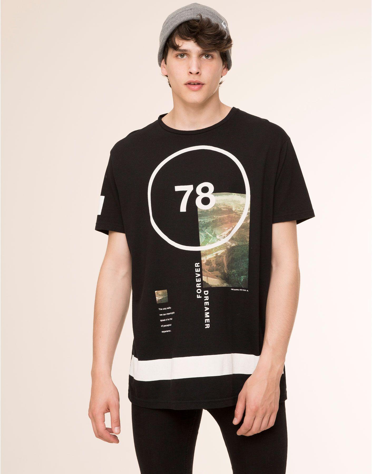 Hombre Manga Camiseta Corta amp;bear España Camisetas Print Pull zIrrxnSdqW