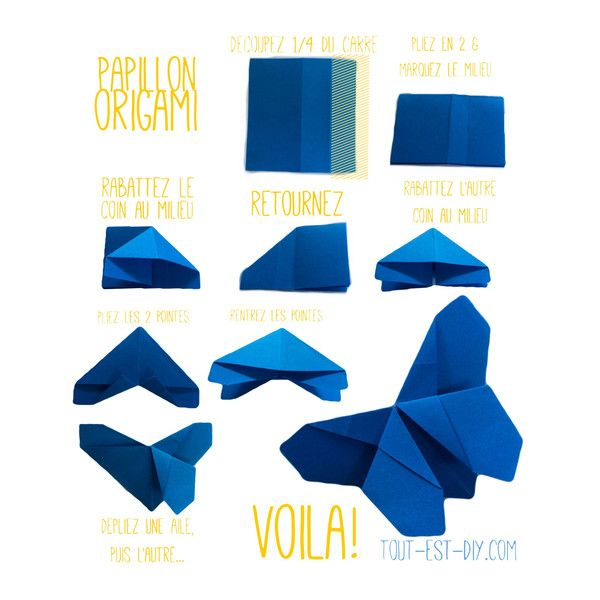 tuto origami papillon tout est diy origami origami. Black Bedroom Furniture Sets. Home Design Ideas