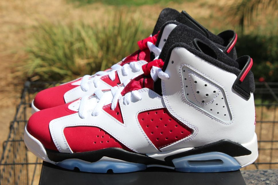 separation shoes 22993 648a5 Air Jordan 6 Retro 'Carmine' (Kids) Detailed Pics ...