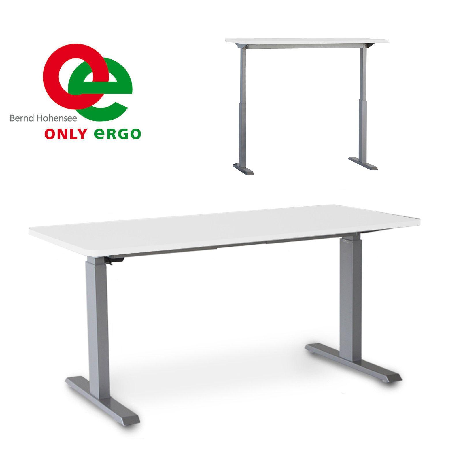 hochwertiges steh sitz gestell einstufiger h henverstellbarer schreibtisch mit soft start and. Black Bedroom Furniture Sets. Home Design Ideas