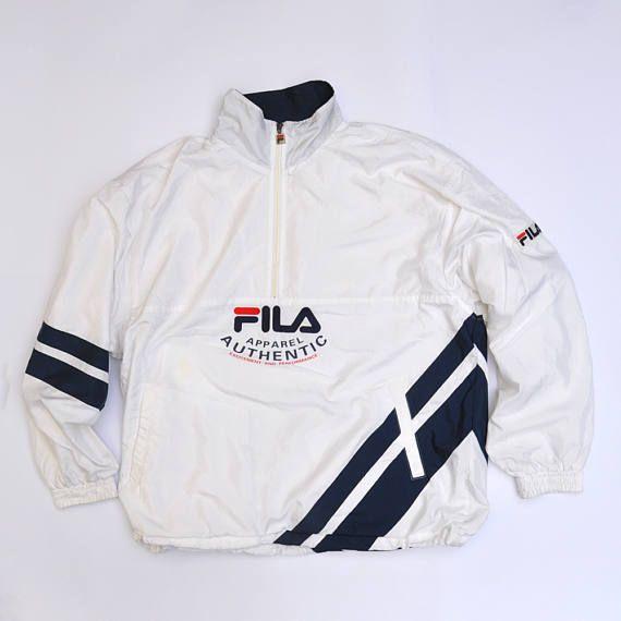 Vintage Fila Pullover Cagoule Jacket Jumper Jacket / 80s ...