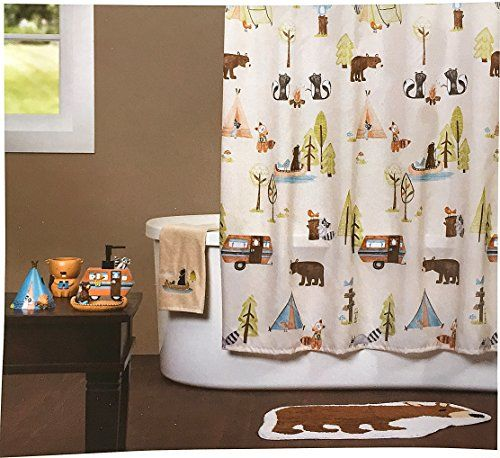 Wilderness Camping Critters Fabric Shower Curtain Saturday Knight  Http://www.amazon.