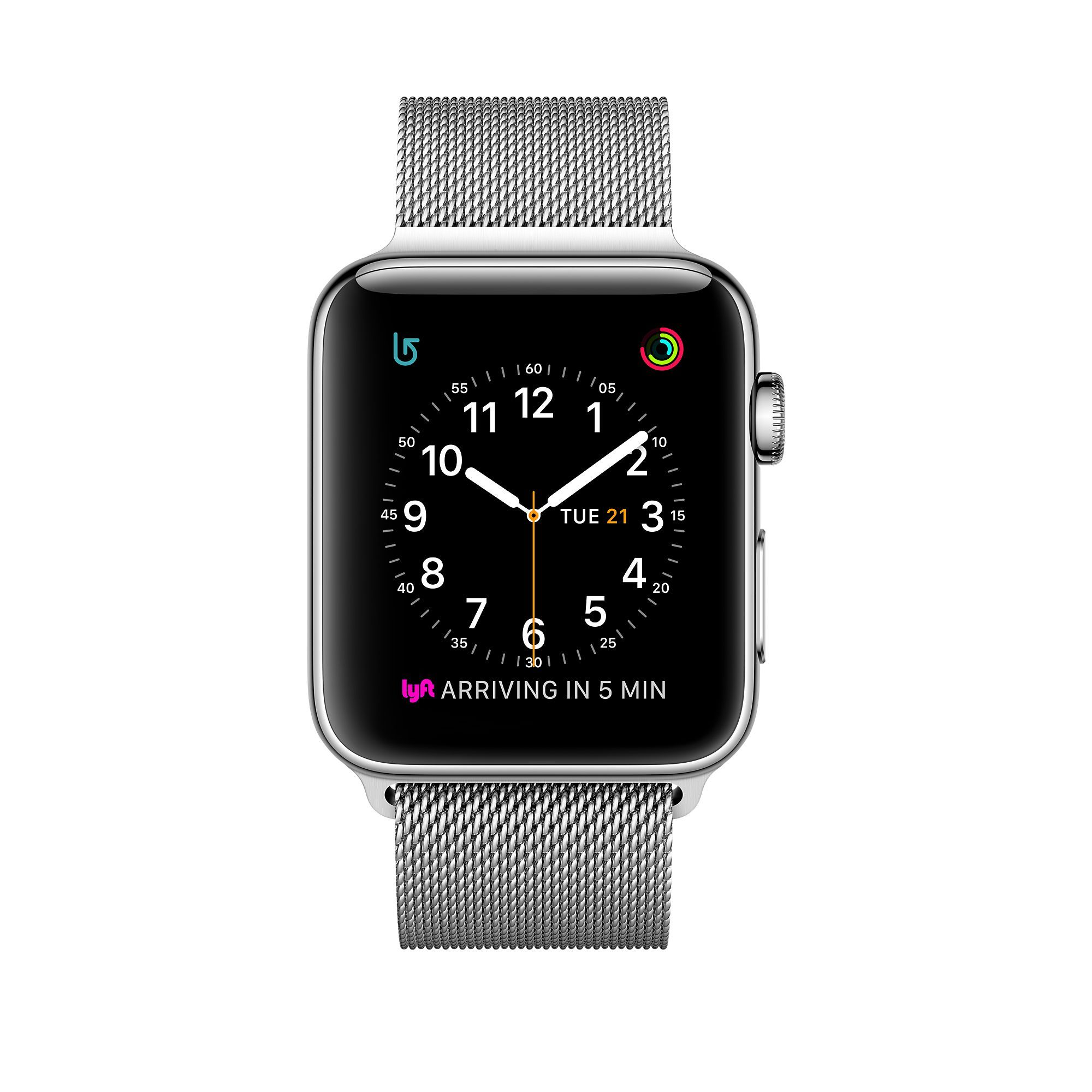 Shop Apple Watch Series 2 Featuring Built In Gps In A 42mm Stainless Steel Case With Milanese Loop Buy Now With Fast Free Shipping