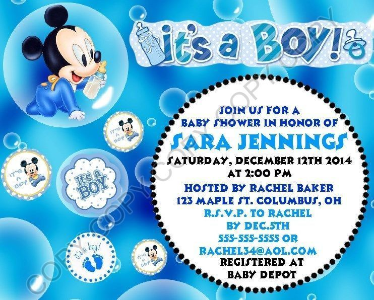 disney baby mickey mouse baby shower invitations 12 pk personalized it