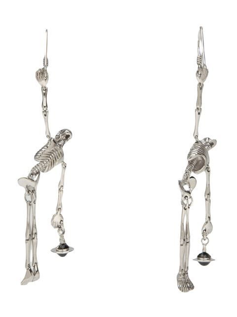Shop Vivienne Westwood skeleton drop earring in ODD. from the world's best independent boutiques at farfetch.com. Over 1000 designers from 300 boutiques in one website.