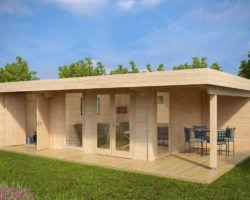 Luxus Gartenhaus Hansa Lounge XXL (Gartenhaus 2 Räume) | дача