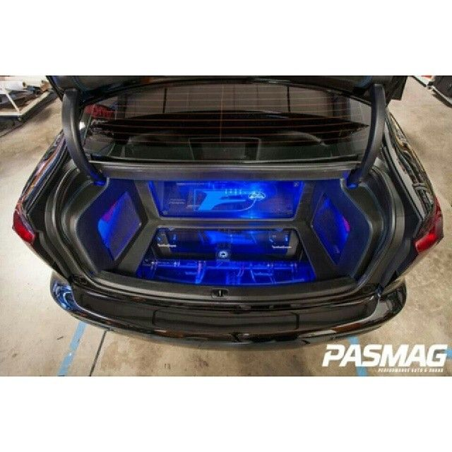 Evo custom hardwood floor trunk | Car Audio Custom ... |Stormtrooper Car Audio Custom Trunk Install