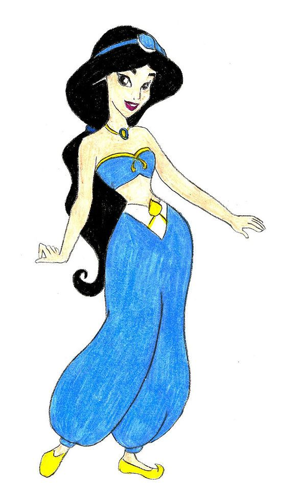 How to Draw Disney Princess Jasmine from Aladdin: 8 Steps ...