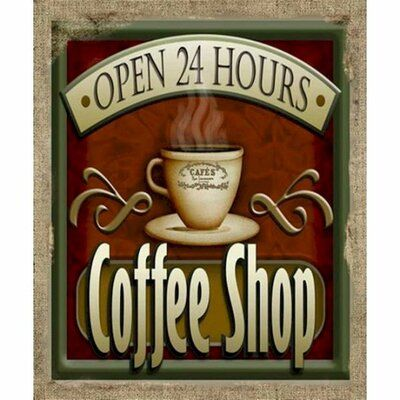 Winston Porter Open 24 Hours Coffee Shop Graphic Art Print On Canvas Wayfair Ca In 2020 Coffee Breakfast 24 Hour Coffee Shop Coffee Art