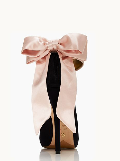 47bfb2e70dae GRANDE BOW heels - kate spade new york So much potential! Definitely not a  fan of baby pink...but imagine black