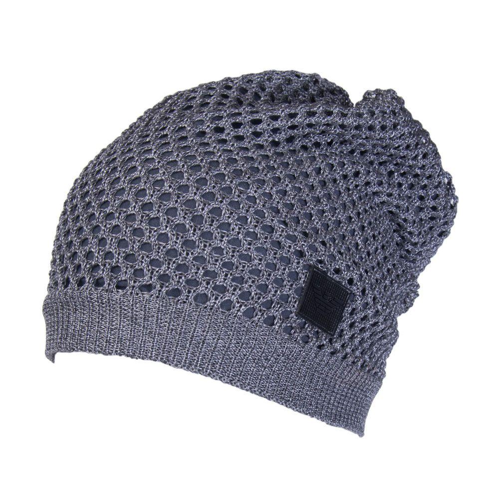 la réputation d'abord sélectionner pour plus récent qualité-supérieure EMPORIO ARMANI Beanie Cap Size S Mesh Knit Double Layer Made ...