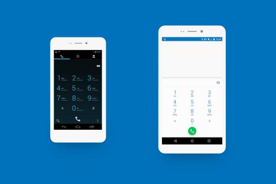 BEFORE & NOW padrões (android) antigos comparados com os de hoje.