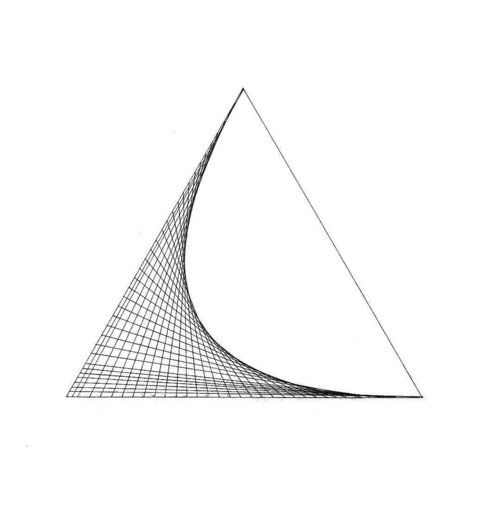 Parabola developing as an envelope of lines in a triangle
