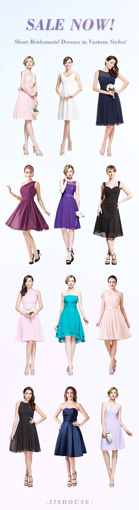 Bridesmaiddresses sale now short bridesmaid dresses in various