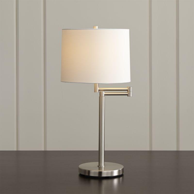 Metro Ii Brushed Nickel Swing Arm Table Lamp Lamp Table Lamp Floor Table Lamps