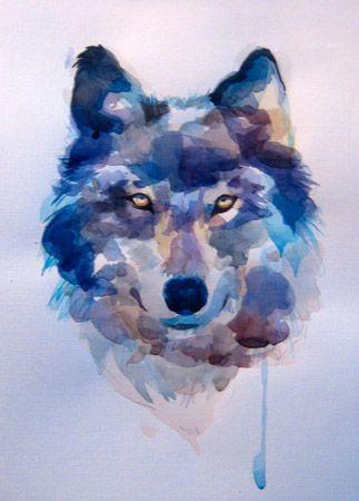 Resultat De Recherche D Images Pour Loup Dessin Aquarelle
