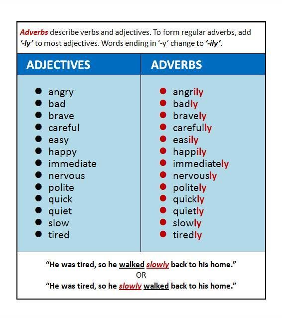 Adjectives and adverbs essay