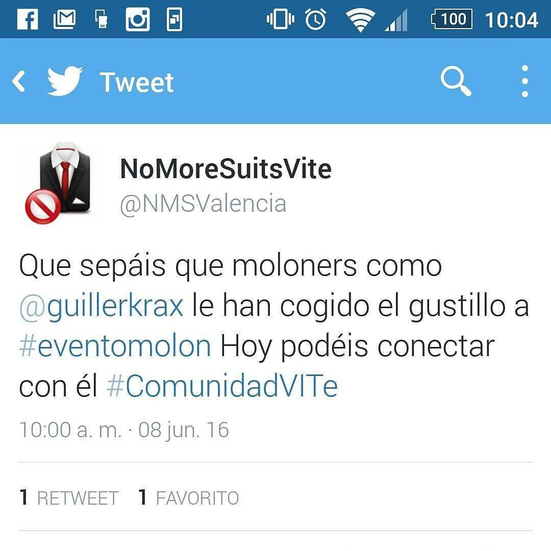 Leer este #tweet de @NMSValencia de buena mañana ya te dice que el #miércoles va a #molar mucho   #felizmiercoles #eventomolon #molones #emprendedores #valencia