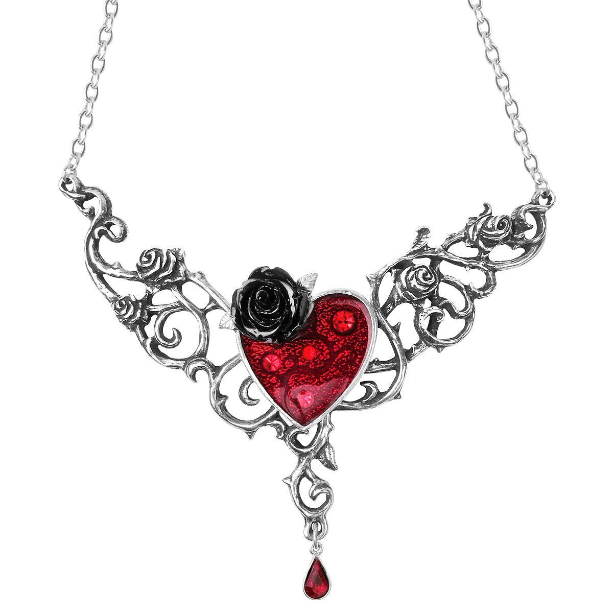 Blood Rose Heart   Gothic jewelry, Heart jewelry, Goth jewelry