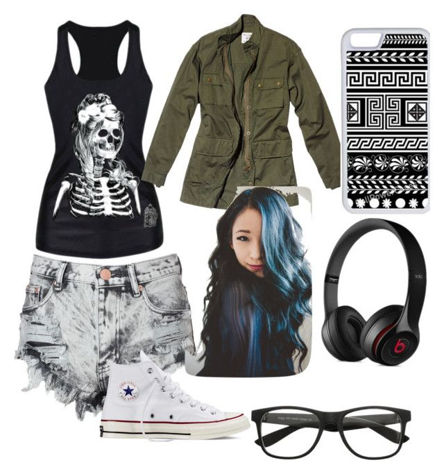 """""""Untitled #5"""" by darkcreator ❤ liked on Polyvore featuring Glamorous, Nili Lotan, Converse, CellPowerCases and Black Apple"""
