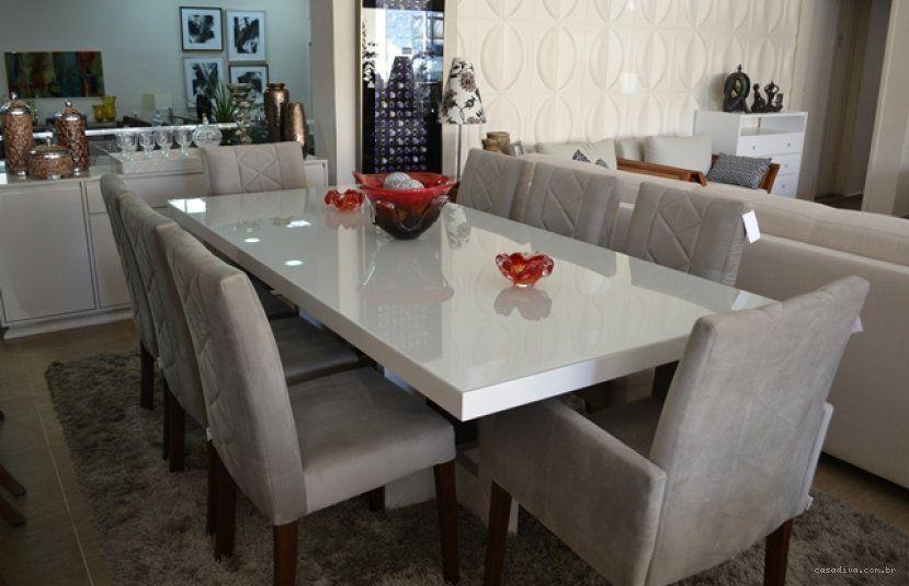 Artesanato Indigena Onde Comprar ~ Casa Diva Mesa em laca branca Cadeiras estofadas Inspiraç u00e3o Casinha Pinterest Mais