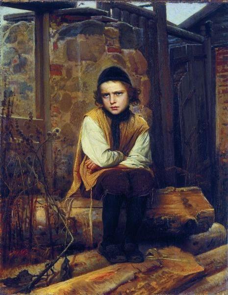 Outraged Jewish boy - Ivan Kramskoy