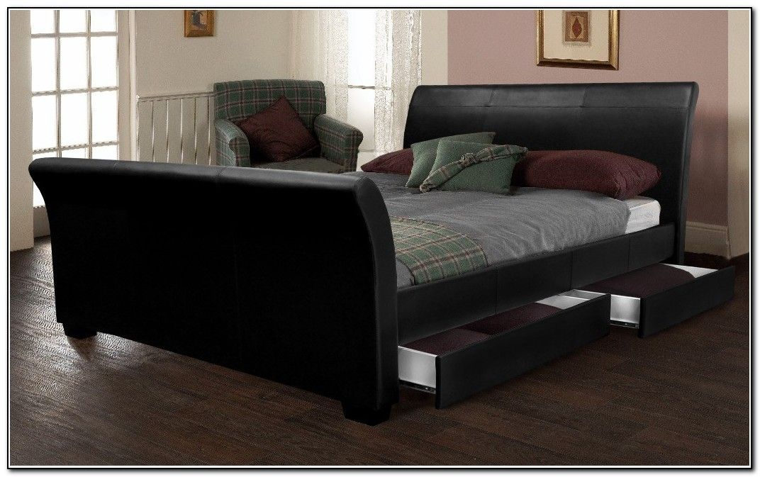 I have always wanted a sleigh bed. ) plus storage FTW