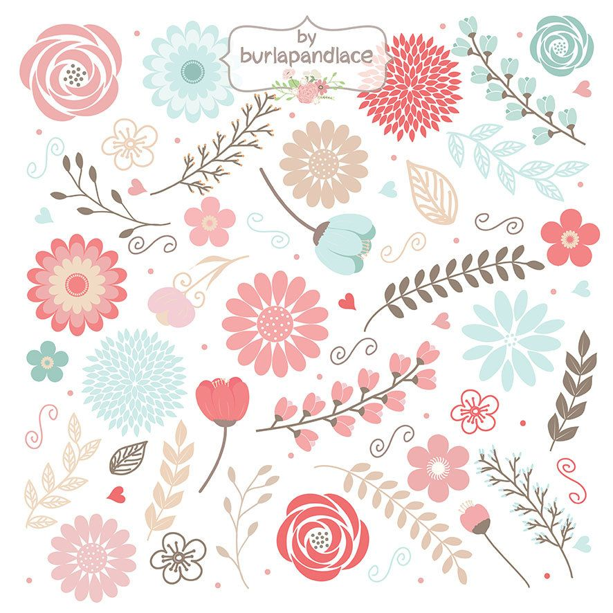 Rustic Wedding Clipart Shabby Chic Hand 1burlapandlace