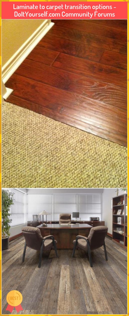 Laminate to carpet transition options