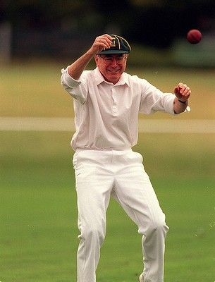 Prime Minister John Howard Puts Forward A Counter Argument To The Adage If You Can T Beat Them Join Them During A Cricket Match Cricket Match Cricket Match