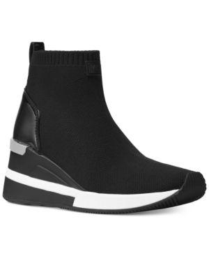 d7e776b5fd1c Michael Michael Kors Skyler Sneaker Booties - Black 7.5M