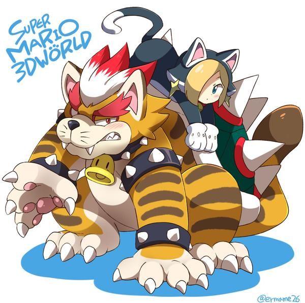 Meowser and Cat Rosalina - Super Mario 3D World | Since