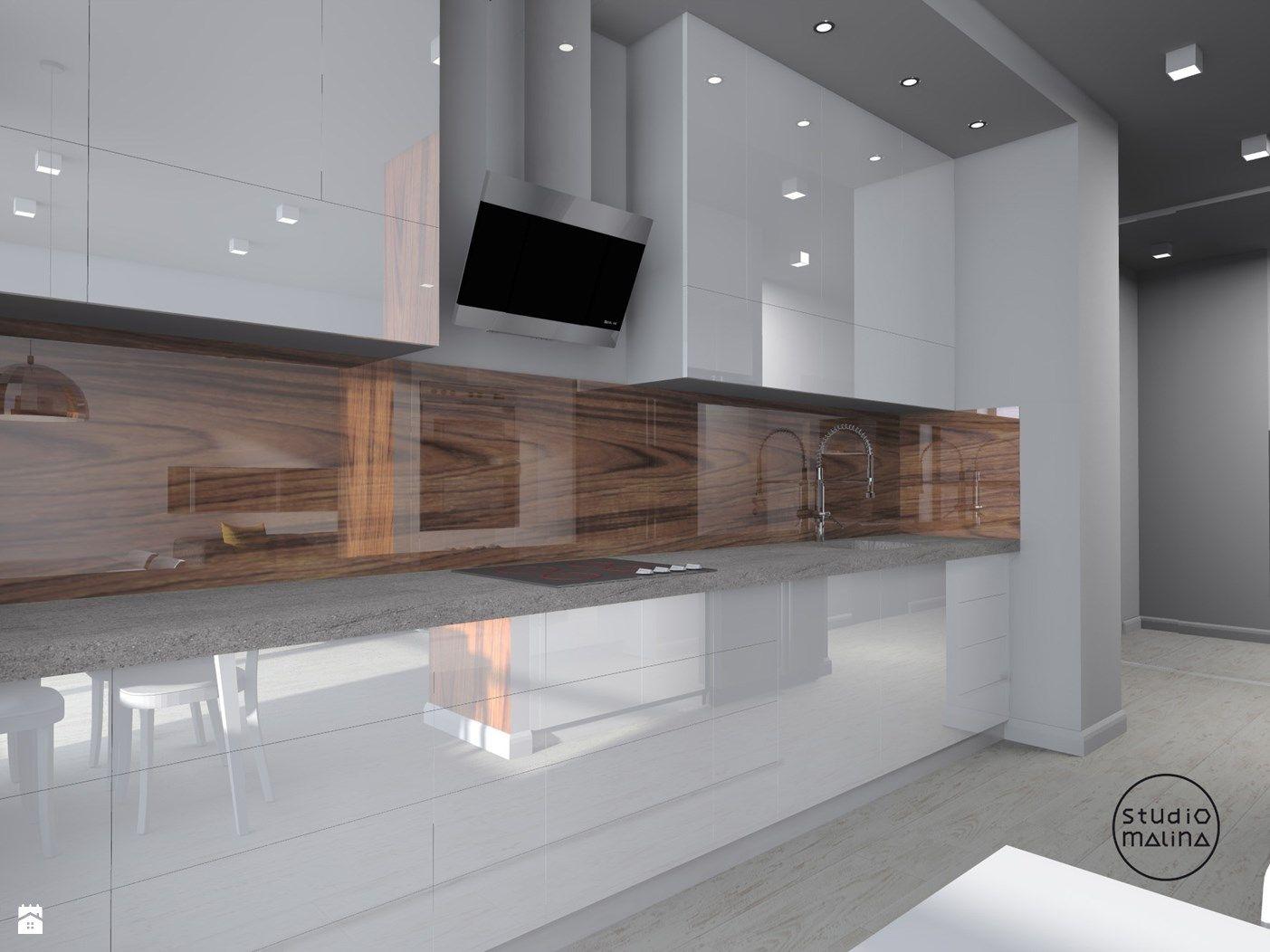 Otwarta kuchnia w bieli hola design homesquare - Kuchnia Zdj Cie Od Studio Malina Architekci Projektanci Wn Trz Kuchnia Studio Malina
