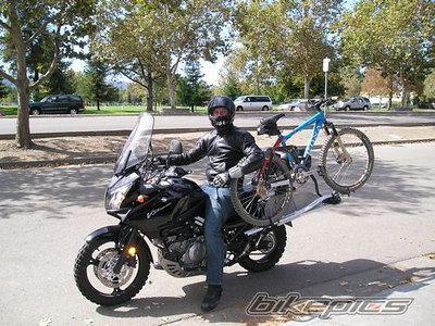 Taking Your Bicycle On A Motorbike Tour Bike Design Bike Rack