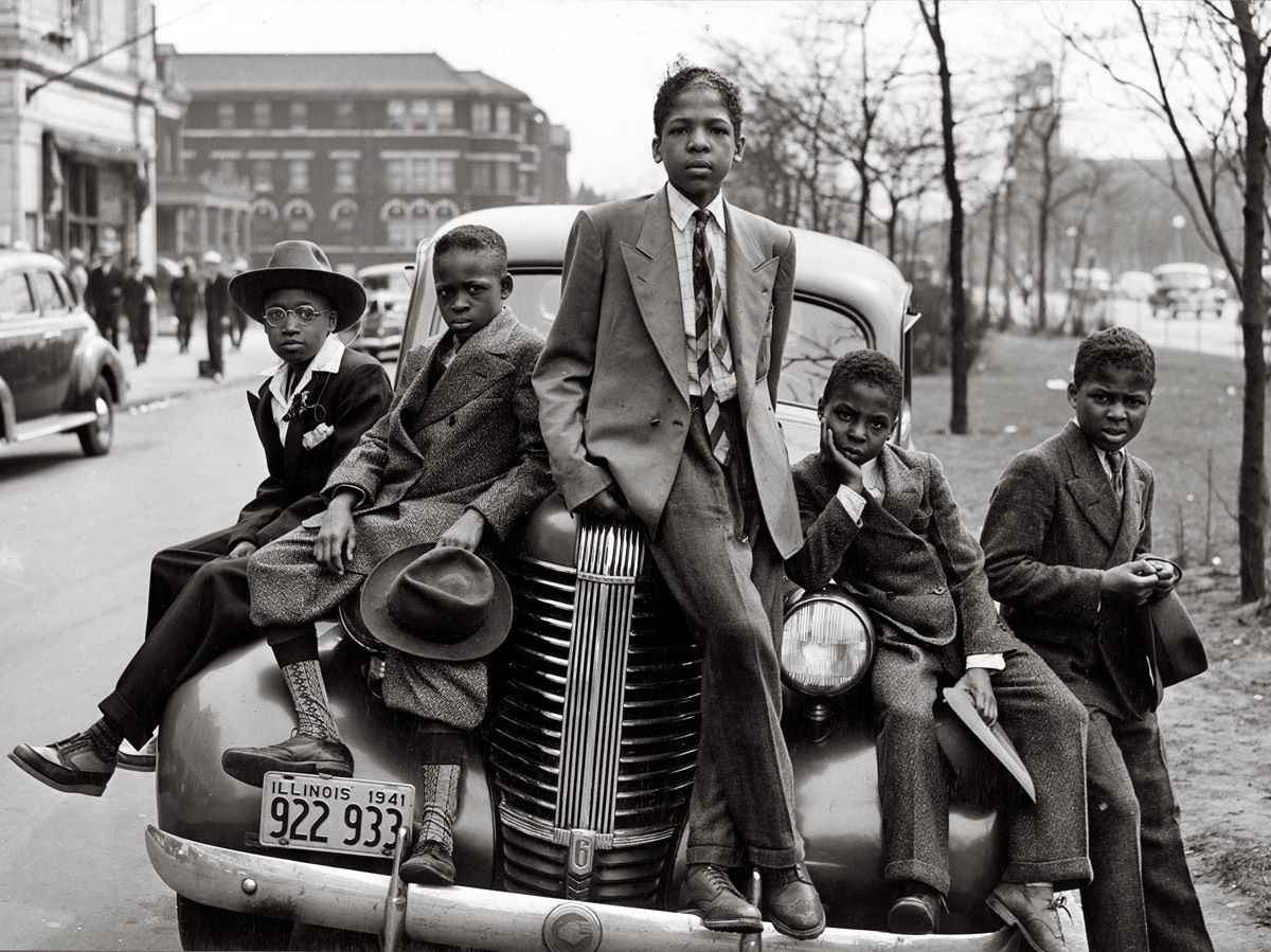 1950 S Southside Chicago Projects Style Personified African American Boys Black History Vintage Photos