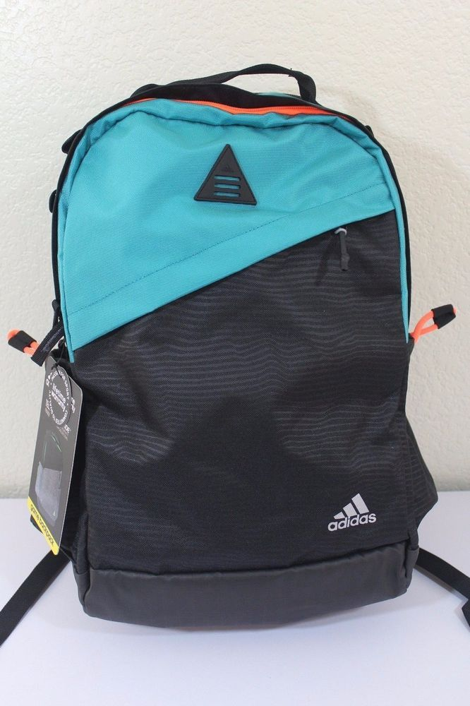 a37cb8f36e1a Adidas game backpack unisex black   green tech friendly climaproof  adidas   Backpack